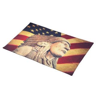 Rustikale USA-Flagge patriotischer amerikanischer Tischset