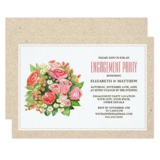 Rustikale Verlobungs-mit BlumenParty Einladungen