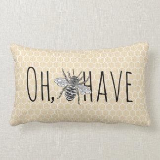 Rustikale Vintage Bienenwabe lustiges | oh Lendenkissen