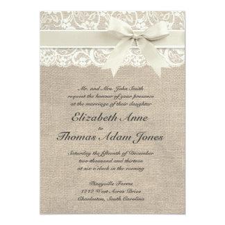 Rustikale Vintage inspirierte Hochzeits-Einladung 12,7 X 17,8 Cm Einladungskarte