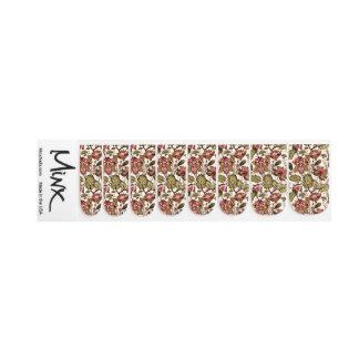 Rustikale Vintage Paisley-Blume auf sahnigem Minx Nagelkunst