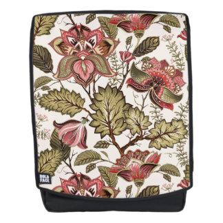 Rustikale Vintage Paisley-Blume auf sahnigem Rucksack