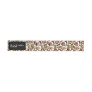 Rustikale Vintage Paisley-Blume auf sahnigem Rundum-Adressaufkleber