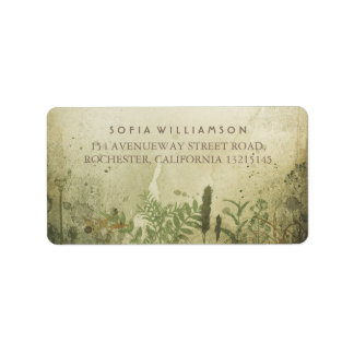 Rustikale Waldadressen-Etiketten Adressaufkleber