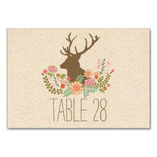 Rustikale wedding Tischnummerkarte des Landes mit