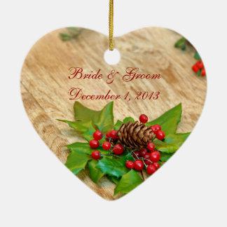 Rustikale Weihnachtsstechpalmen-Verzierung Keramik Ornament