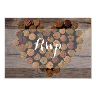 Rustikale Wein-Korken UAWG Karte 8,9 X 12,7 Cm Einladungskarte