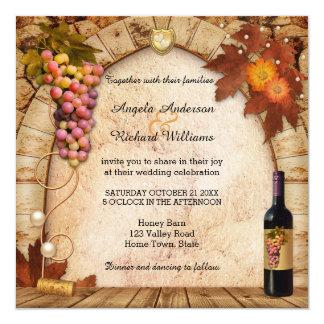 Rustikale Wein-oder Quadratische 13,3 Cm Einladungskarte
