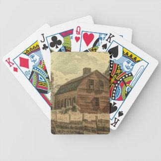 Rustikale Western-Land-Bauernhauschic-Rot-Scheune Bicycle Spielkarten