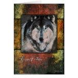 Rustikale Wolf-Geburtstags-Karte