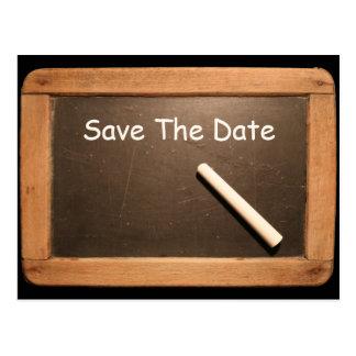 Rustikaler 50. Geburtstag Save the Date - Postkarte