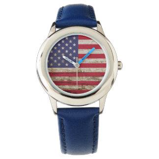 Rustikaler Amerikaner Vereinigte Staaten Armbanduhr