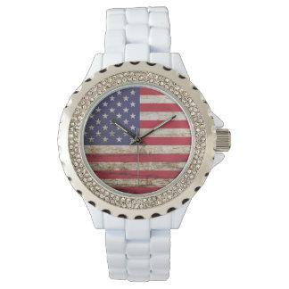 Rustikaler Amerikaner Vereinigte Staaten Uhr