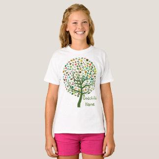 Rustikaler Baum der Leben-jugendlich Patenttochter T-Shirt