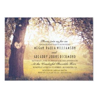 Rustikaler Baum und geschnitztes 12,7 X 17,8 Cm Einladungskarte