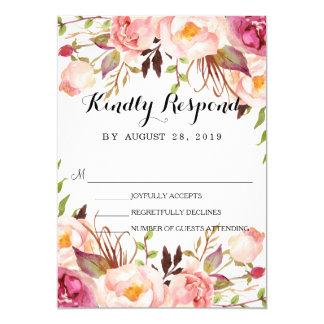 Rustikaler BlumenKranz, der RSVP3 Wedding ist 12,7 X 17,8 Cm Einladungskarte