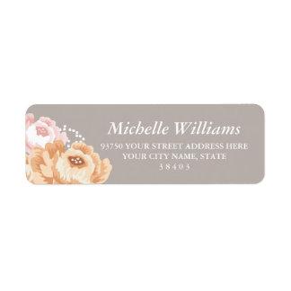 Rustikaler BlumenRücksendeadressen-Aufkleber Kleiner Adressaufkleber