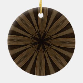 Rustikaler Brown-Blumen-Kaleidoskop-Entwurf Keramik Ornament