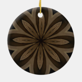 Rustikaler BrownblumenKaleidoskop-Entwurf Keramik Ornament