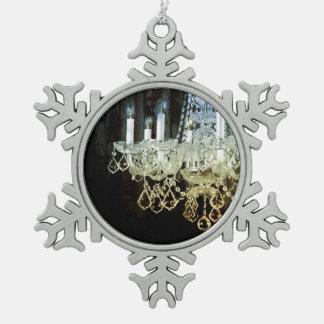 Rustikaler Chic-Westernland Scheunen-Holzleuchter Schneeflocken Zinn-Ornament