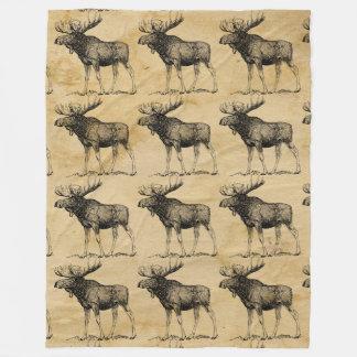 Rustikaler Elch-Tier-Fleece-Decken-Kabinen-Dekor Fleecedecke