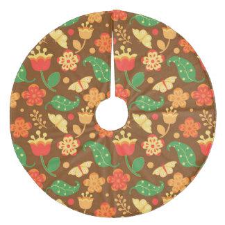 Rustikaler Erntedank-Feiertags-Fall-Herbst Fleece Weihnachtsbaumdecke