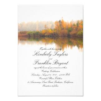 Rustikaler Fall-elegante und einfache Hochzeit 12,7 X 17,8 Cm Einladungskarte