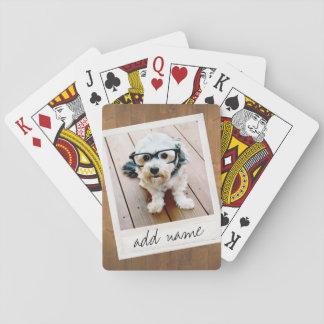 Rustikaler Foto-Rahmen mit quadratischem Instagram Spielkarten