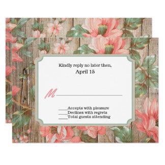 Rustikaler Frühling blüht Hochzeit UAWG Karte