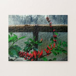 Rustikaler Garten mit Blumen Puzzle