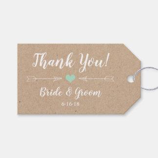 Rustikaler Gastgeschenk Hochzeits-Umbau mit Geschenkanhänger