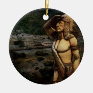 rustikaler GebirgsWestern indischer gebürtiger Keramik Ornament