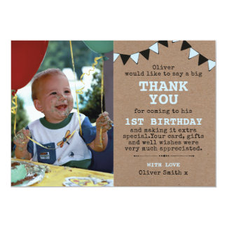 Rustikaler Geburtstag der Jungen danken Ihnen zu Karte