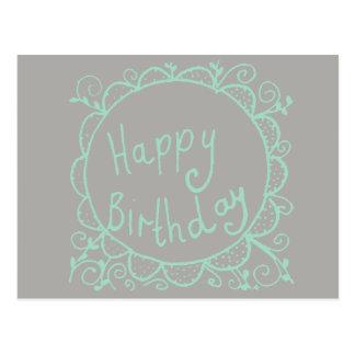 Rustikaler Geburtstag Postkarte