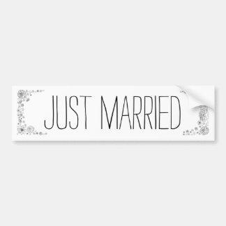 Rustikaler gerade verheirateter Autoaufkleber