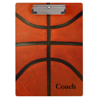Rustikaler getragener Basketball Klemmbrett