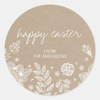 Rustikaler glücklicher Ostern runder mit