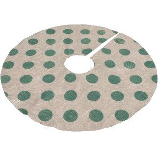 rustikaler grüner Baumrock des Punkts Polyester Weihnachtsbaumdecke