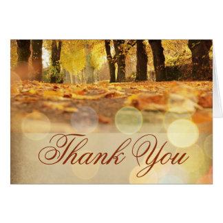 Rustikaler Herbstlaub-Herbst danken Ihnen Karten