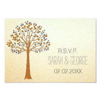 Rustikaler Hochzeit im Herbsts-uAwgstandard 3,5 x Karte