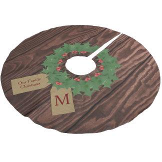 Rustikaler Holz-und Polyester Weihnachtsbaumdecke
