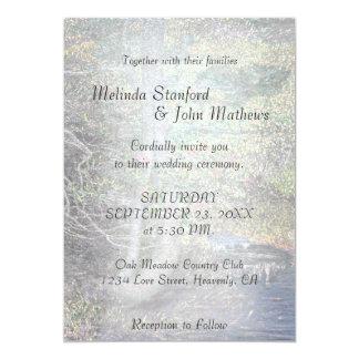 Rustikaler Land-Strom der Hochzeits-Einladungs-| Karte
