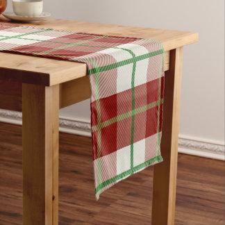 Rustikaler Land-WeihnachtsfeiertagTartan kariert Kurzer Tischläufer