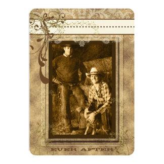Rustikaler romantischer Vintager Leuchter Ihr Foto Personalisierte Ankündigungskarten
