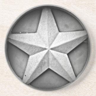 Rustikaler Sandstein-Untersetzer Texas Lonestar Untersetzer