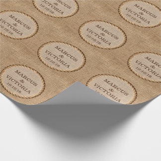 Rustikaler Seil-Land-Hochzeits-Jutefaser Geschenkpapier
