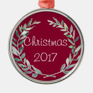 Rustikaler Silbernes Ornament