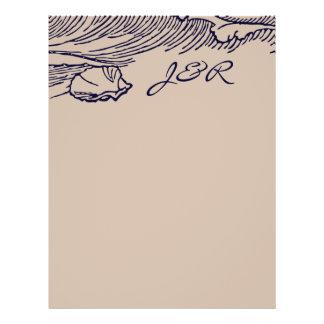 Rustikaler Strand DIY der Ozean-Brisen-| schlägt 21,6 X 27,9 Cm Flyer