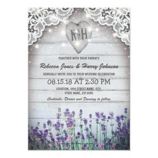 Rustikaler Vintager Lavendel, der | Karte