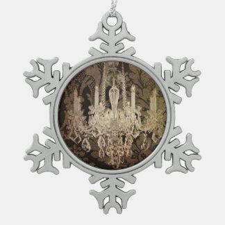 Rustikaler Vintager Leuchter des Steampunk Schneeflocken Zinn-Ornament